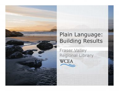 Plain Language: Building Results
